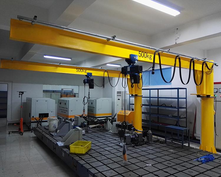 塑料包装厂安装500KG悬臂吊工程案例