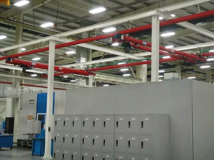 流水线安装1吨KBK起重机工程案例